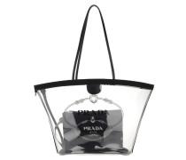 Tote Fabric And Plexiglas Handbag Black schwarz