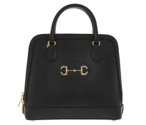 Tote 1955 Horsebit Medium Handle Bag Leather Black
