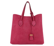 Celene Suede Shoulder Bag Framboise Shopper