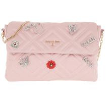 Quilted Shoulder Bag Satin Rose Tasche
