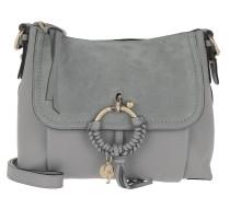 Umhängetasche Joan Grained Shoulder Bag Leather Skylight grau