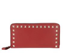 Rockstud Wallet 2 Leather Rosso Portemonnaie