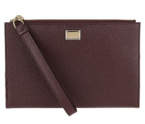 Pochette D&G Card Case Leather Vino rot