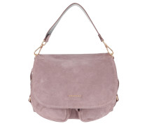 Janine Suede Shoulder Bag Pivoine Satchel