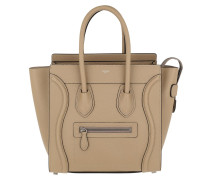Tote Micro Luggage Bag Leather Dune