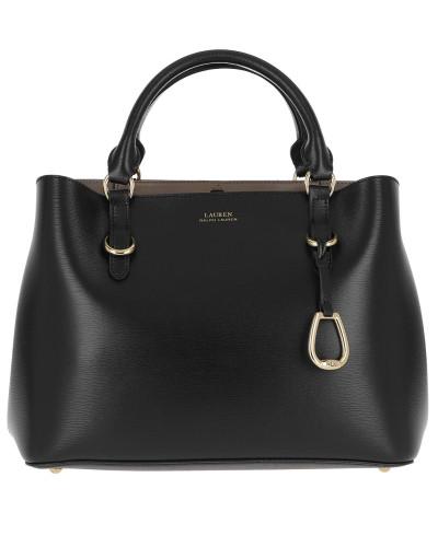 Bennington Satchel Bag Saffiano Black/Truffle
