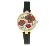 Holland Corn Rose Watch Black Armbanduhr schwarz