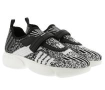 Sneakers Metallic Knit Fabric Cloudbust Sneakers Silver/Black schwarz