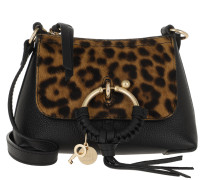 Umhängetasche Joan Crossbody Bag Mini Leather Black schwarz