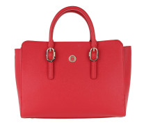 TH Buckle Satchel Tommy Red Satchel Bag