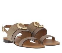 Sandalen Chloé Flat Sandals Motty Grey