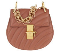 Drew Bijou Mini Leather Chestnut Brown Tasche