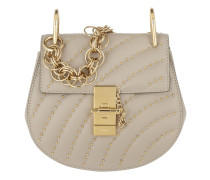 Drew Bijou Mini Leather Pastel Grey Tasche