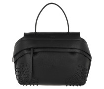 Wave Bag Gommini Small Black Satchel Bag