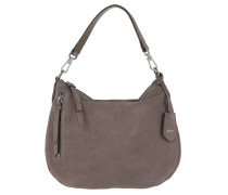 Hobo Bag Suede Velour Taupe