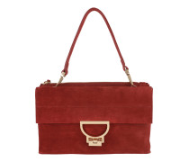 Arlettis Suede Crossbody Bag Large Bourgogne Satchel Bag