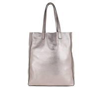 Tote Calf Shimmer Tote Taupe lila
