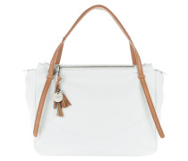 Burnie Mamoun Satchel Bag White Tote