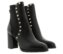 Rockstud Ankle Boots 90 Leather Black Schuhe