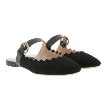 Lauren Mules Suede Black Schuhe