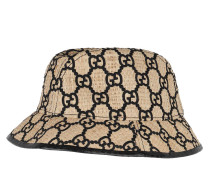 Caps GG Hat Snake Leather Ivory/Black