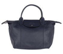 Tote Le Pliage M Leather Navy marine
