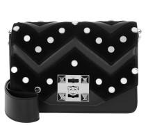 Niky Mirror Crossbody Bag Black Satchel Bag