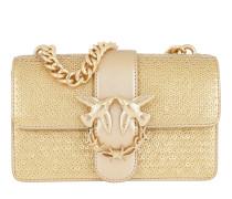 Mini Love Pailletes Leather Shoulder Bag Oro Satchel Bag