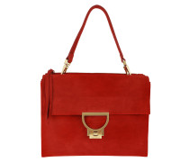 Umhängetasche Arlettis Suede Crossbody Bag Large Coquelicot rot