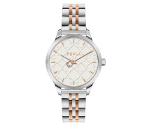Uhr Watch Like Shield Silver/Rose Gold