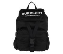Rucksack Burberry Logo Print Backpack Nylon Black schwarz