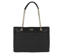 Quilted Shopping Bag Black/Gold Shopper