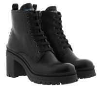 Combat Boots Smooth Leather Black Schuhe