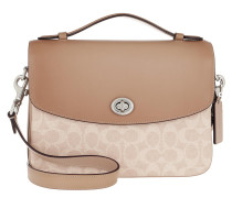 Satchel Bag Coated Canvas Signature Cassie Crossbody Sand Taupe