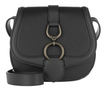 Barrington Crossbody Bag Pebbled Leather Black Tasche