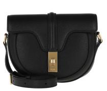 Umhängetasche Small Besace 16 Bag Grained Calfskin Black