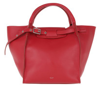 Small Big Bag Smooth Calfskin Pop Red Tote