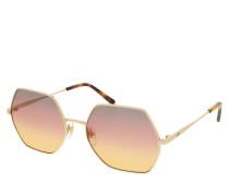 Sonnenbrille MCM140S Sunglasses Shiny Gold/Grey Rose Orange