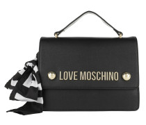 Love Scarf Crossbody Bag Black Satchel Bag