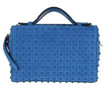 Gommino Mini Shoulder Bag Calf Leather Bluette Chiaro Tasche