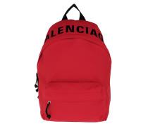 Rucksack Wheel Backpack Bright Red/Black