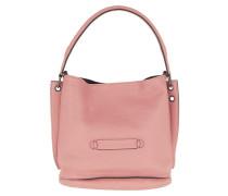 Beuteltasche Longchamp 3D Bag Leather Pink rosa