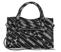 Umhängetasche Logo City Bag Mini Leather Black/White schwarz