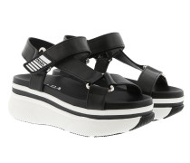 Touch Strap Platform Sandals Black/White Sandalen
