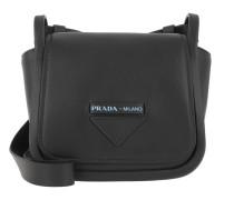 Umhängetasche Crossbody Bag With Logo Leather Black schwarz