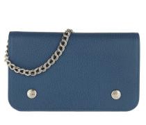 Umhängetasche Le Foulonné Wallet On Chain Leather Sapphire blau