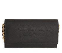 Portemonnaie Embossed Wallet On Chain Leather Black schwarz