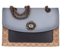 Umhängetasche Canvas Signature Colorblock Shoulder Bag Tan Mist Ink blau