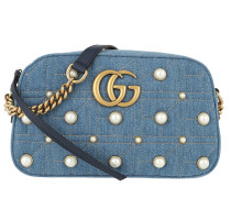 GG Marmont Matelassé Shoulder Bag Light Denim Tasche