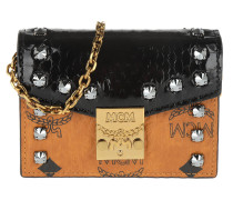 Umhängetasche Patricia Card Holder Black cognac